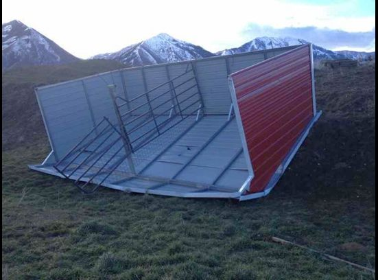 blown over shed